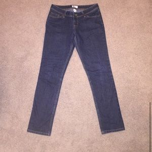 Juniors dark wash skinny jeans